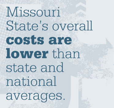 Missouri State overall costs lower than state and national averages