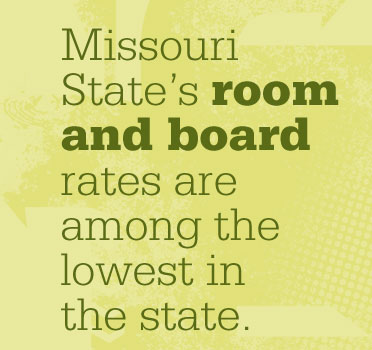 Missouri State's room and board rates among lowest in state
