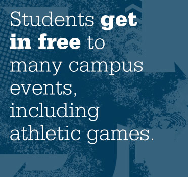Students get in free to many campus events, including athletic games