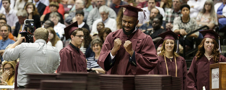 Honor 560 graduates for their achievements during Missouri State's summer commencement ceremony Aug. 1.