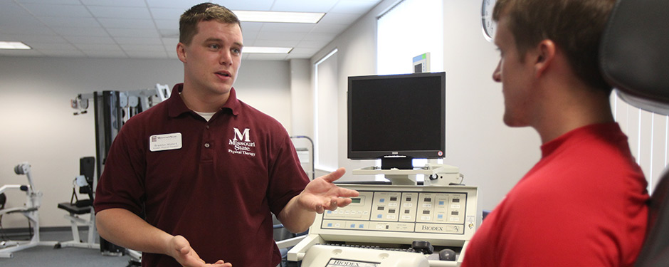 Missouri State's Physical Therapy Clinic provides specialty care and rehabilitation services for spine and joint injuries.