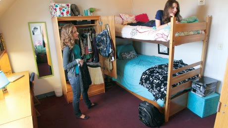 Students enjoy hanging out in their dorm room