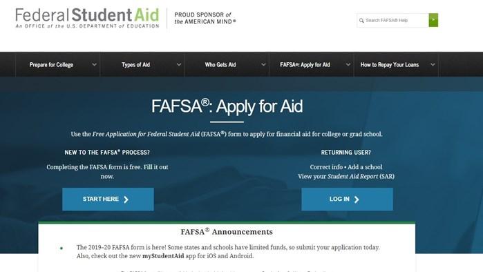 2019-2020 FAFSA Priority Deadline