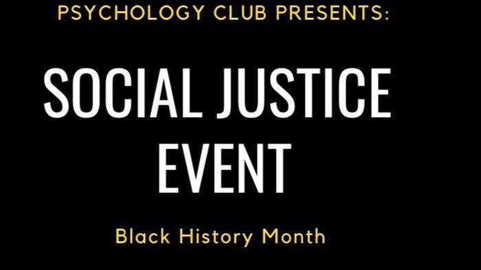 Psychology Club Presents: Social Justice Event