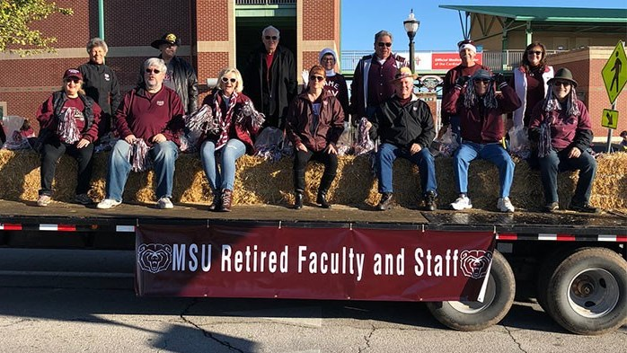 Retired Faculty Staff Event: Ride Homecoming Parade Float