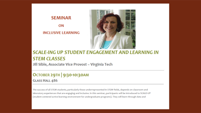 Seminar on Inclusive Learning with Dr. Jill Sible