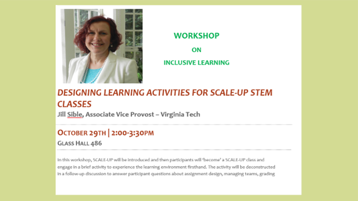 Workshop on Inclusive Learning with Dr. Jill Sible