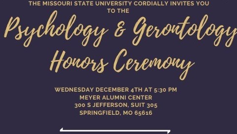 Psychology and Gerontology Honors Reception