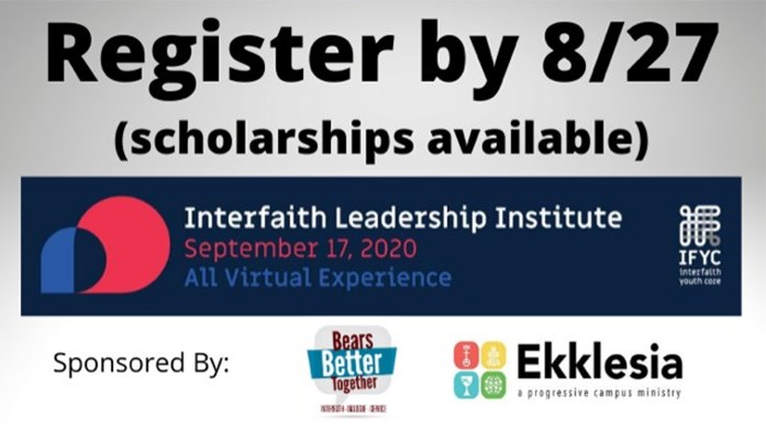 Interfaith Leadership Institute 2020 - Registration now open