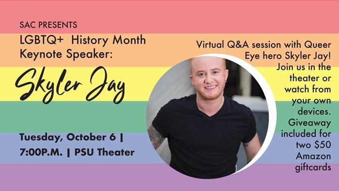SAC LQBTQ+ History Month Speaker: Skyler Jay