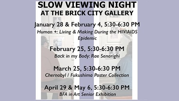 Slow Viewing Nights at the Brick City Gallery