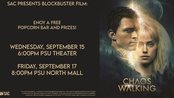 SAC Presents Blockbuster Film: Chaos Walking