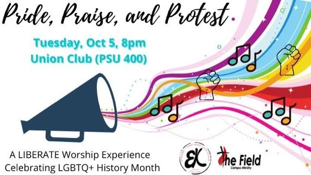 LGBTQ+ Heritage Month 2021 - Pride, Praise & Protest Worship Service