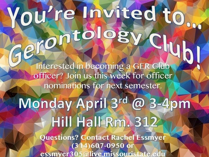 Gerontology Club: Officer Nominations