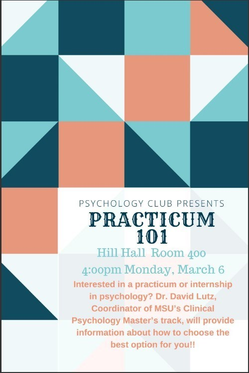 Psychology Club Presents: Practicum 101