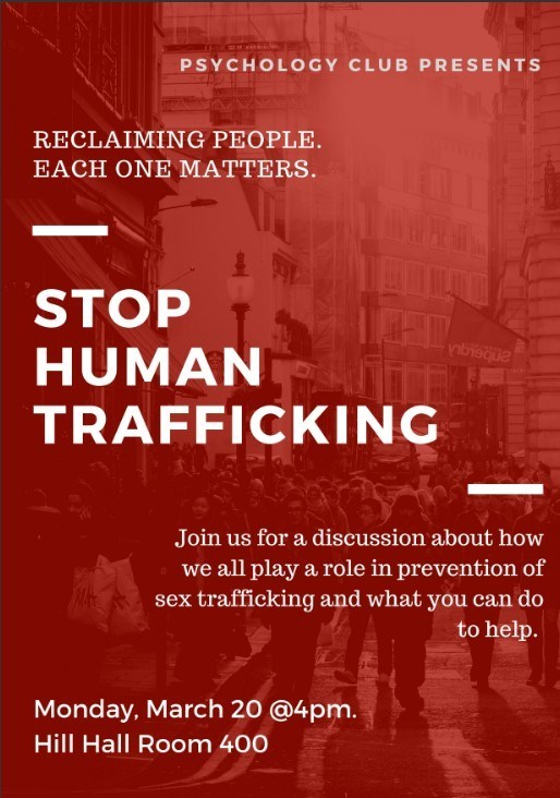 Psychology Club Presents: Stop Human Trafficking