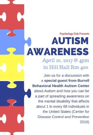 Psychology Club Presents: Autism Awareness