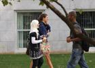 Students conversing