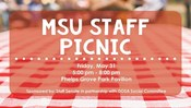 Staff and Family Picnic Sponsored by Staff Senate