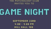 Psychology Club Presents: Game Night