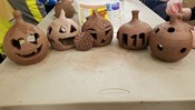 Clay Pumpkin Carving