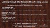 Cooking Through The Holidays: FREE Community Cooking Classes!