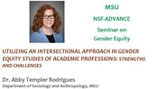 MSU NSF-ADVANCE: Seminar on Gender Equity