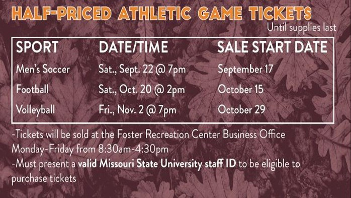 Half Price Volleyball Ticket Sale - MSU Staff only