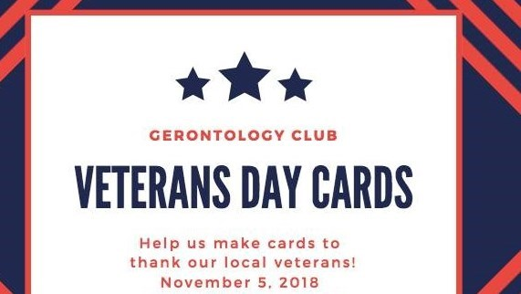 Gerontology Club Meeting - Veterans Day Cards