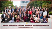MSU Chorale Concert at United Methodist Church