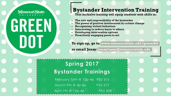 Green Dot Bystander Intervention Training