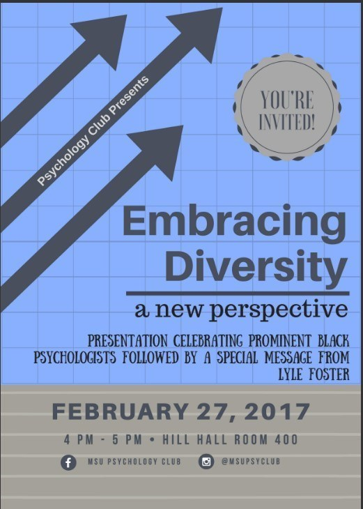 "Psychology Club presents ""Embracing Diversity: A New Perspective"""