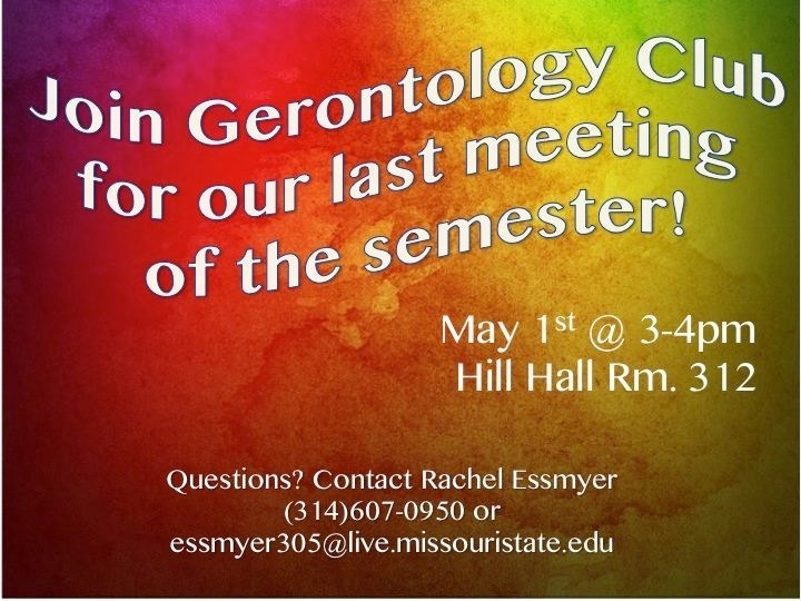 Gerontology Club: Final Meeting