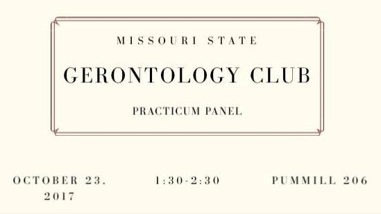 Gerontology Club: Practicum Panel