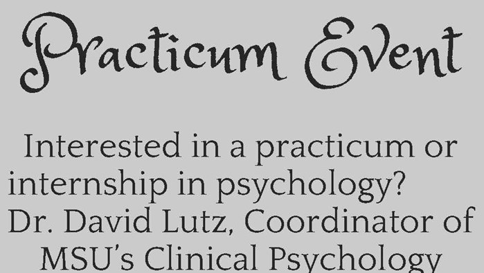 Psychology Club Presents: Practicum Event